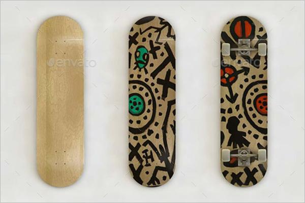 Skateboard Art MockUp Template