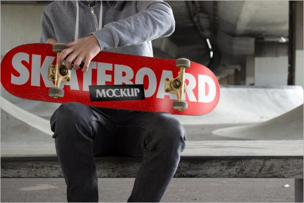Skateboard Mockup Design Vector