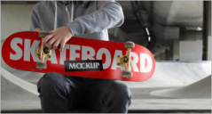 60+ Printable Skateboard Mockup Templates