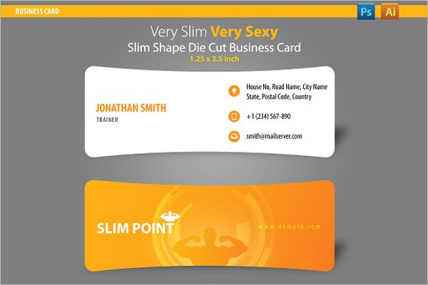 Slim Gym Business Card