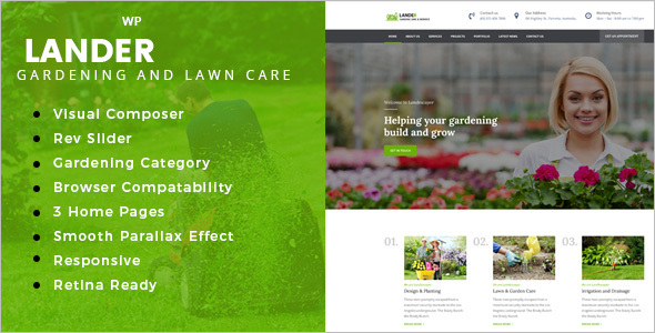 Small Gardener WordPress Theme