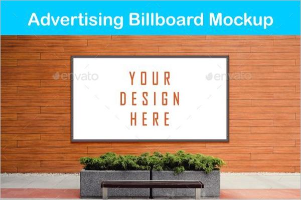 Smart Advertising Billboard Mockup