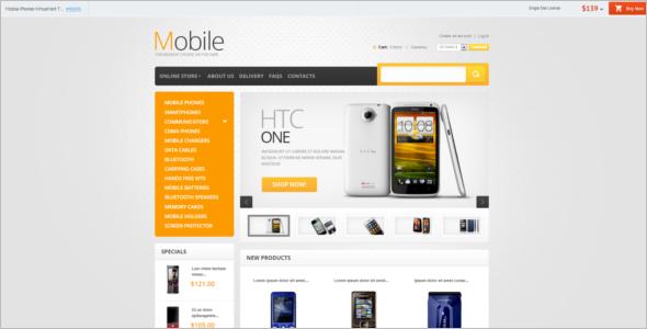 Smart Phones VirtueMart Template