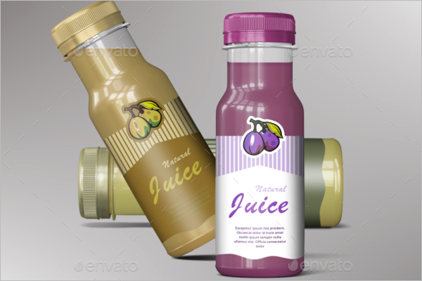 Smoothie Bottle Juice Mockup