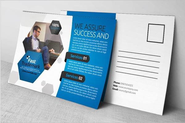 Social Business Construction Postcard