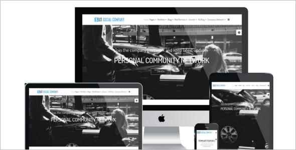 Social Company WordPress Theme