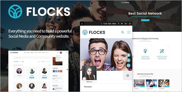 Social Network Business WordPress Theme