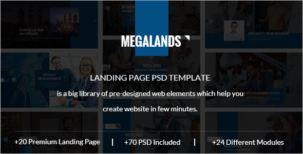 Spa Landing Page PSD Template