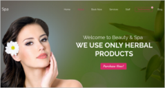 Spa Landing Page Templates