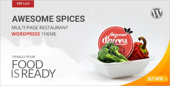 Spice Restaurant WordPress Template