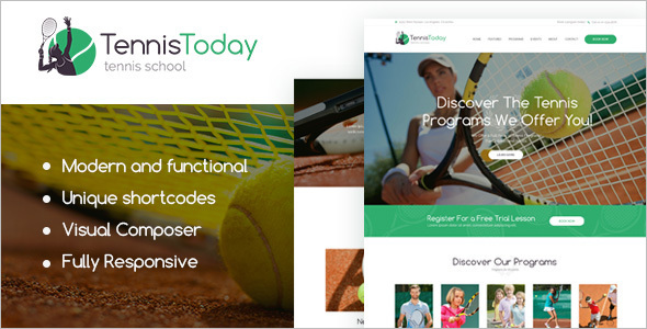 Sport Education WordPress Template