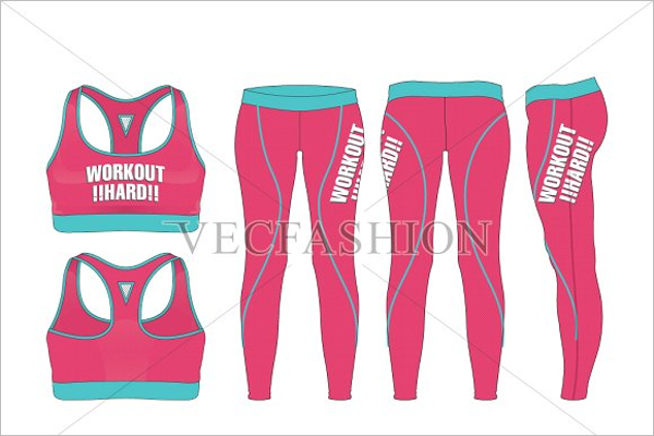 Sport Leggings Mockup Template