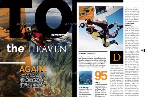 Sport Magazine Mockup