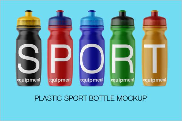 Sport Plastic Bottle Mockup