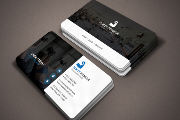 Sports & Fitness Business Card