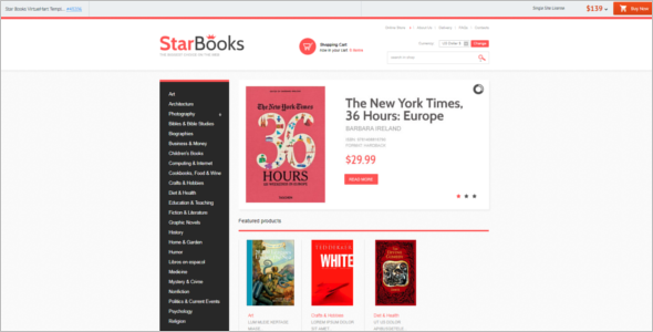 Star Books Store VirtueMart Template