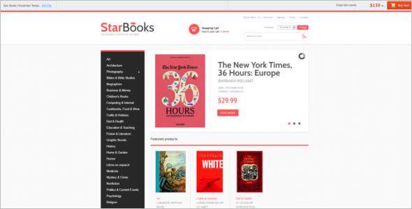 Star Books Store VirtueMart Template