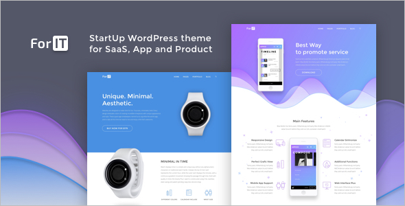 StartUp WordPress theme for Software