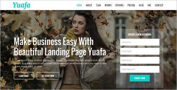 Startup HTML5 Landing Page Theme