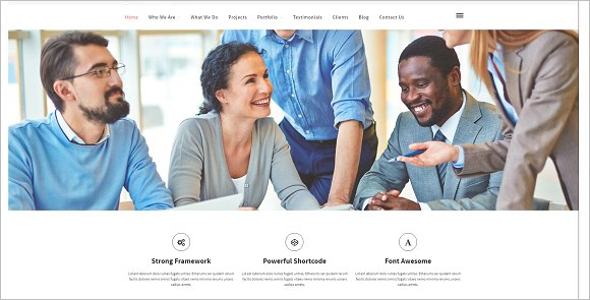 Startup One page WordPress Theme