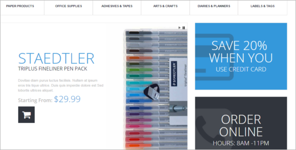 Stationery Store PrestaShop Theme
