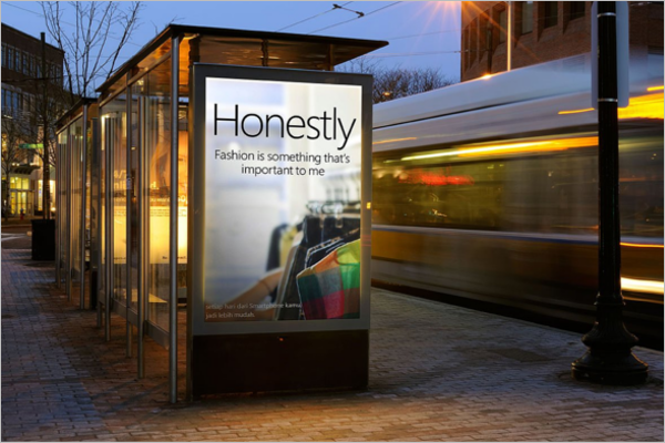 Street Billboard Mockup Design