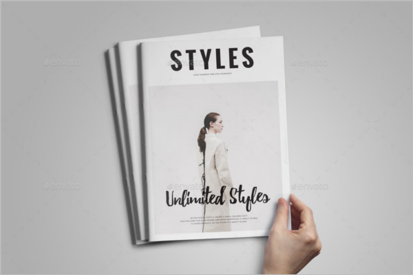Style Magazine Mockup Template