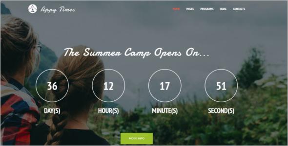 Summer Camp WordPress Theme