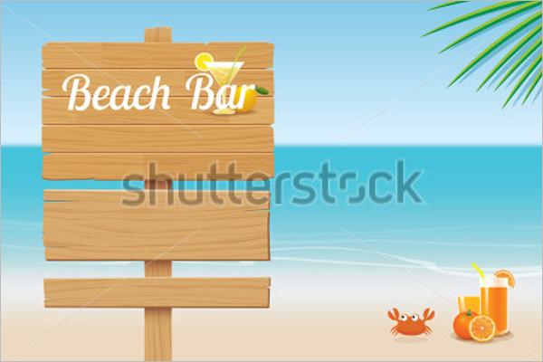 Summer Wooden Sign Template