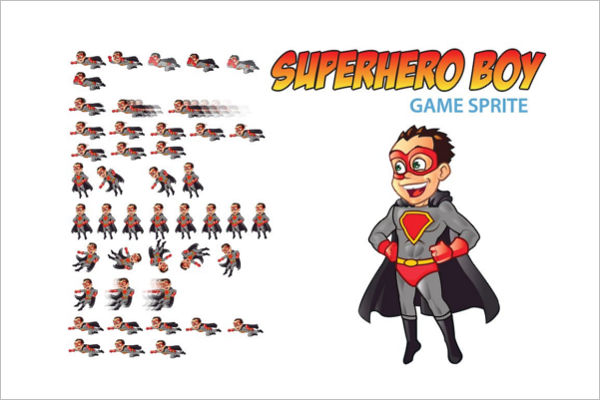Superhero Boy Cartoon Template
