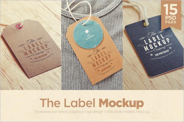 Tag Logo Badge Mockup