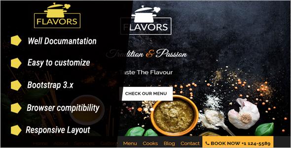Tasty Restaurant Landing page Template