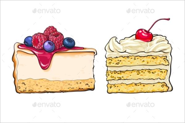 Tasty Sketch Cake Template