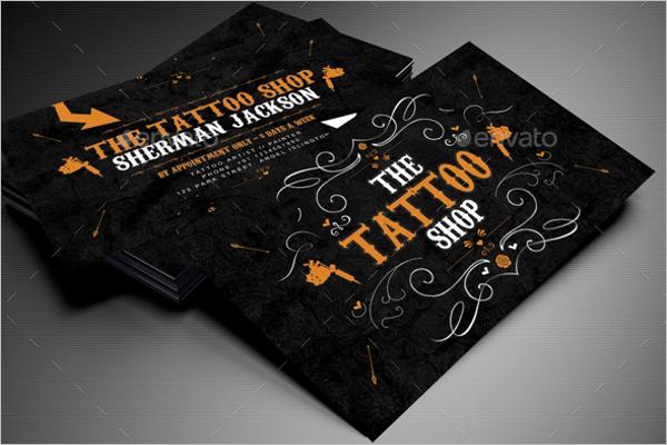 Tattoo Design Artist Business Card