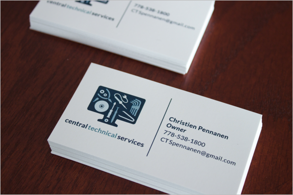 Technical Service Business Card Template