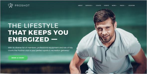 Tennis Club WordPress Template