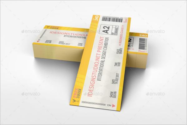 Ticket Mockup Bundle Design