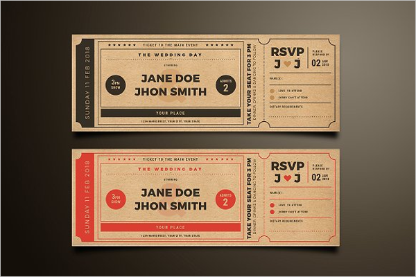 Ticket Mockup Template