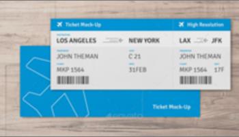 Ticket Mockup Templates