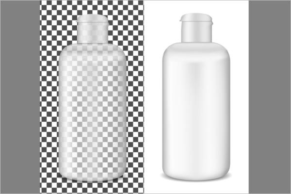 Transparent Plastic Bottel Mockup