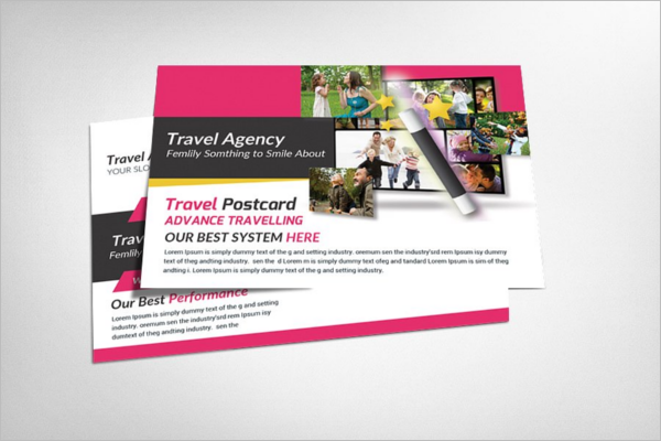 Travel Education Postcard Template