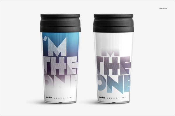Travel Mug Plastic Mockup