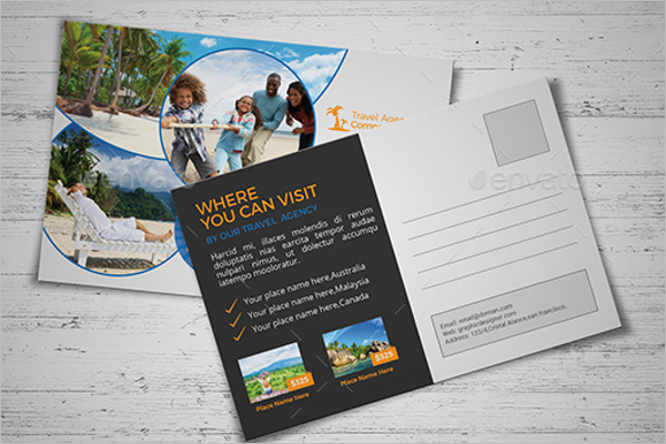Travel Photography Postcard Template