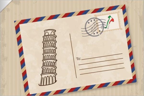 Travel Postcard Vector Template