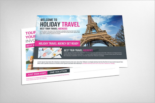 Travel Tour Postcard Template