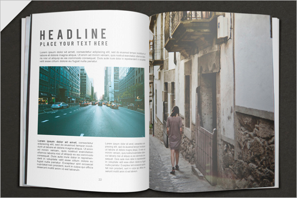 Travel magazine mockup