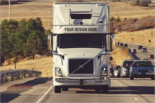 Trendy Truck Mockups PSD