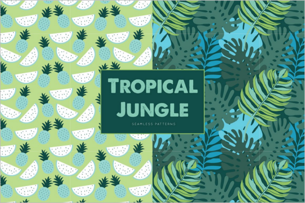 Tropical Jungle Seamless Pattern