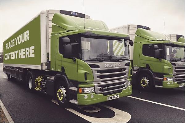 Truck Design Mockup Template