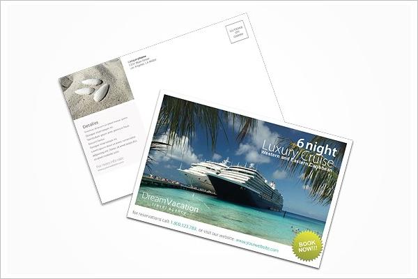 Trvel Agency Postcard Template
